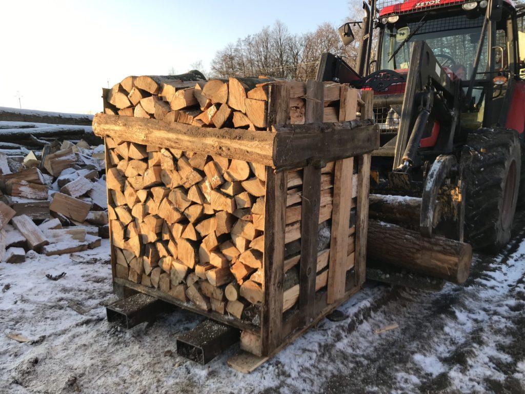 palivové dřevo akce polínka